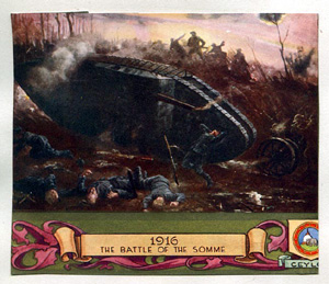 A propganda picture of the Somme Battles